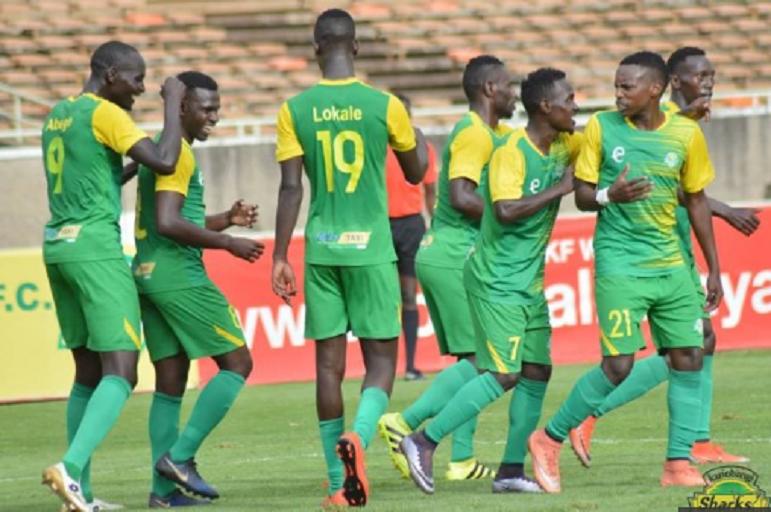 Kariobangi Sharks FC players during a recent match. PHOTO/KariobangiSharks