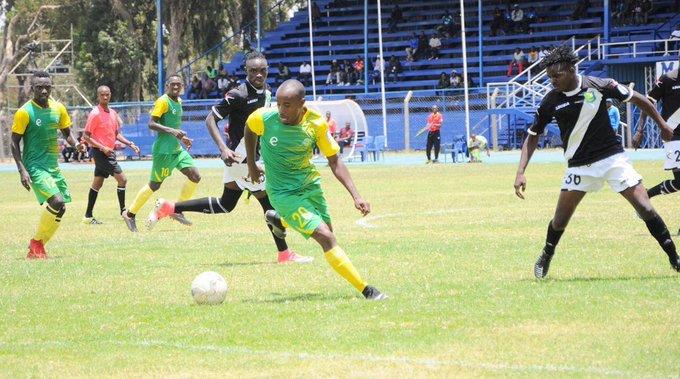 Kariobangi Sharks FC striker, Eric Kapaito (20) with the ball during their SportPesa Premier League clash against Zoo Kericho FC at the Kenyatta Stadium, Machakos on April 4, 2019. PHOTO/Kariobangi Sharks FC