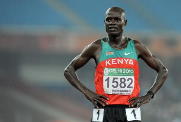 Kenya's Mark Kiptoo is seen after the Men's 5000m Final of the Track and Field competition of the XIX Commonwealth games on October, 6 2010 in New Delhi.PHOTO/ GETTY IMAGES