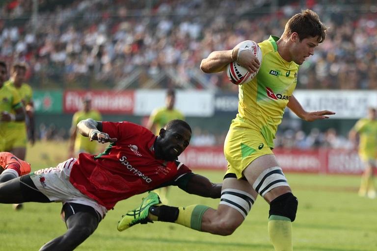 Kenya Shujaa in action against Australia. PHOTO/File