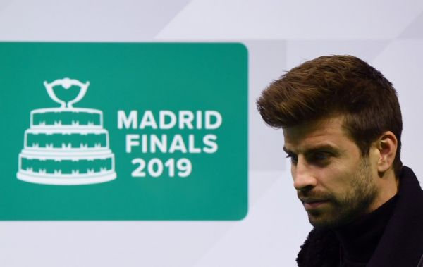 Kosmos Founder and President, Spanish football player Gerard Pique arrives for the Davis Cup Madrid Finals presentation in Madrid on November 12, 2019. PHOTO | AFP