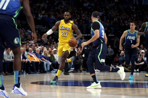 LeBron James #23 of the Los Angeles Lakers dribbles the ball against the Dallas Mavericks at American Airlines Center on January 10, 2020 in Dallas, Texas. PHOTO | AFP