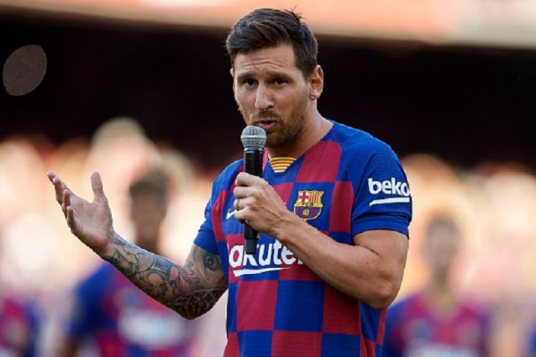Lionel Messi of Barcelona during the Joan Gamper trophy match between FC Barcelona and Arsenal at Nou Camp on August 4, 2019 in Barcelona, Spain. PHOTO/ GETTY IMAGES