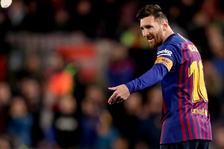 Lionel Messi of FC Barcelona during the La Liga Santander match between FC Barcelona v Real Sociedad at the Camp Nou on April 20, 2019 in Barcelona Spain.PHOTO/GETTY IMAGES