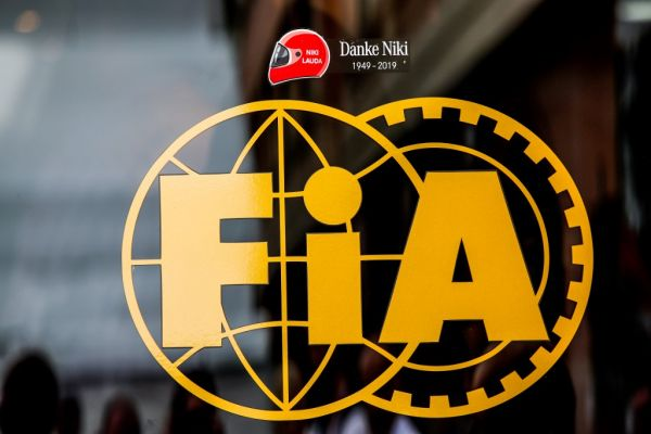 Logo FIA action for road safety, Danke Niki Lauda tribute during the 2019 Formula One World Championship, Grand Prix of Monaco from on May 23 to 26 in Monaco. PHOTO | AFP