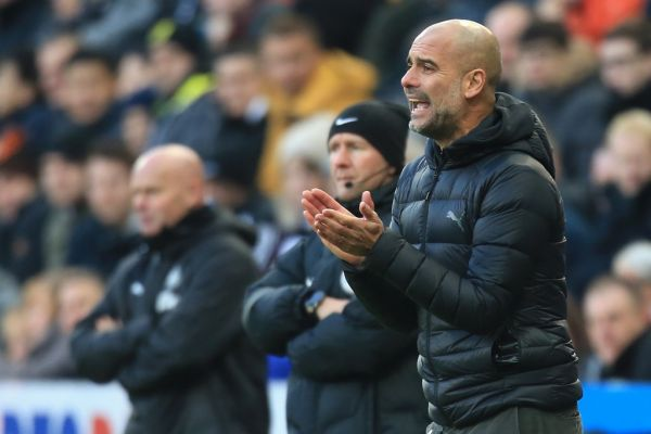 Manchester City's Spanish manager Pep Guardiola reacts during the English Premier League football match between Newcastle United and Manchester City at St James' Park in Newcastle-upon-Tyne, north east England on November 30, 2019. PHOTO | AFP