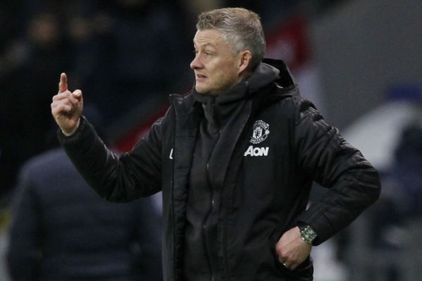 Manchester United's Norwegian manager Ole Gunnar Solskjaer gestures from the sideline during the UEFA Europa League group L football match between Astana and Manchester United in Nur-Sultan on November 28, 2019. PHOTO   AFP