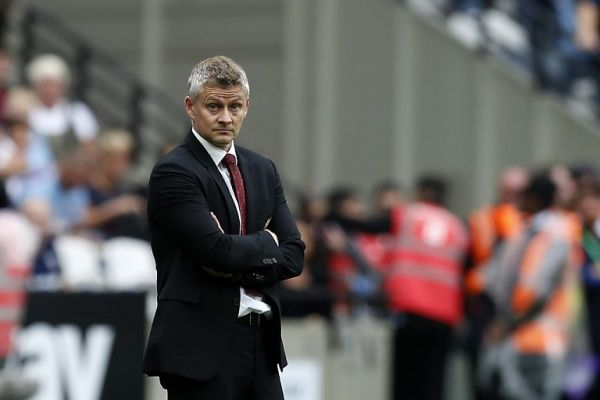 Manchester United's Norwegian manager Ole Gunnar Solskjaer reacts during the English Premier League football match between West Ham United and Manchester United at The London Stadium, in east London on September 22, 2019. PHOTO | AFP