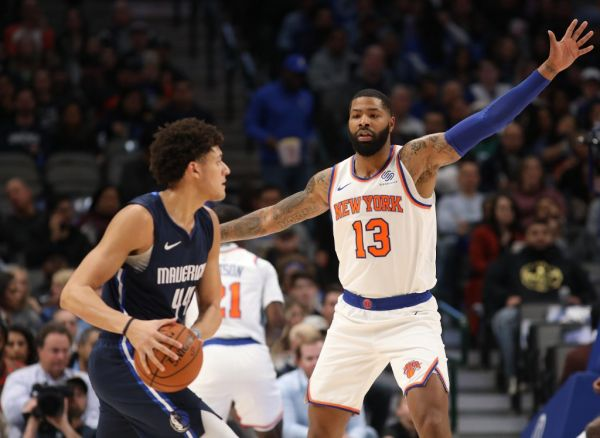 Marcus Morris Sr. #13 of the New York Knicks at American Airlines Center on November 08, 2019 in Dallas, Texas. PHOTO | AFP