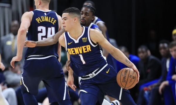 Michael Porter Jr #1 of the Denver Nuggets dribbles the ball during the game against the Indiana Pacers at Bankers Life Fieldhouse on January 02, 2020 in Indianapolis, Indiana. PHOTO | AFP