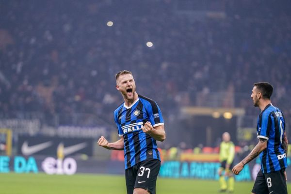 Milan Skriniar of FC Internazionale Milano during the Italian championship Serie A football match between FC Internazionale and AC Milan on February 9, 2020 at Giuseppe Meazza stadium in Milan, Italy. PHOTO | AFP
