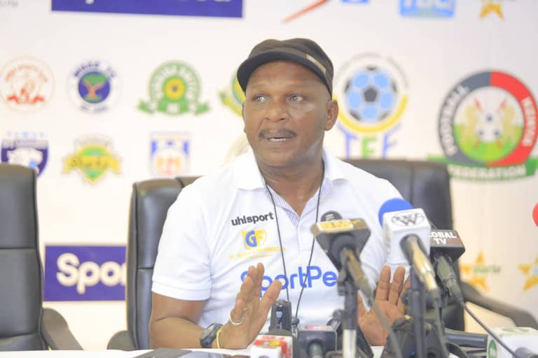 MY POINT IS: Mbao FC head coach Ali Bushiri addresses the media after his team stunned tournament champions Gor Mahia FC in the quarterfinals of the 2019 SportPesa Cup at the National Main Stadium, Dar-es-Salaam on January 23, 2019. PHOTO/SPN
