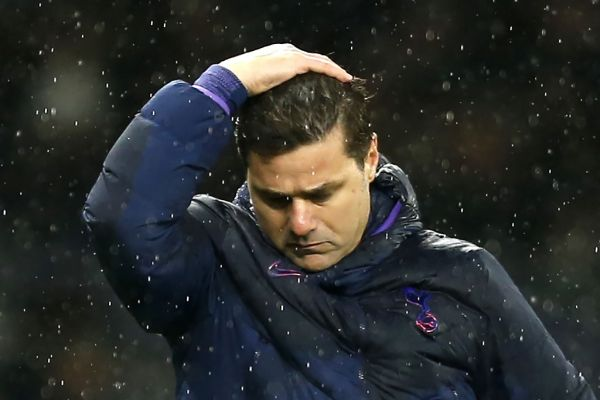 n this file photo taken on November 09, 2019, Tottenham Hotspur's Argentinian head coach Mauricio Pochettino reacts during the English Premier League football match between Tottenham Hotspur and Sheffield United at Tottenham Hotspur Stadium in London. Tottenham Hotspur sacked manager Mauricio Pochettino on November 19, 2019 just five months after reaching the Champions League final following a poor start to the Premier League season. PHOTO   AFP