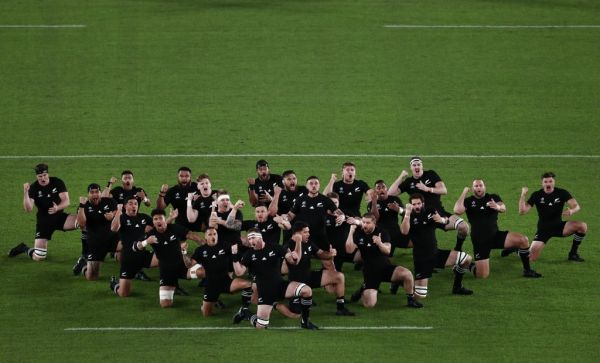 New Zealand's players perform the haka before the Japan 2019 Rugby World Cup semi-final match between England and New Zealand at the International Stadium Yokohama in Yokohama on October 26, 2019. PHOTO | AFP