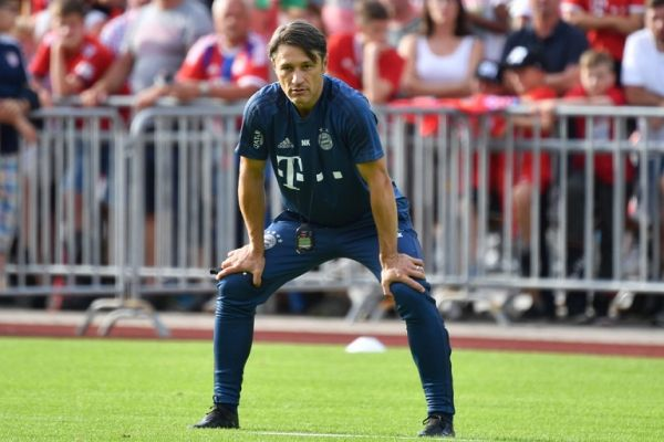 Niko KOVAC (coach Bayern Munich), spellbound watching his players, single shot, cut out, full body shot, full figure. PHOTO | AFP