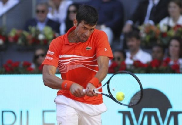 Novak Djokovic (SRB) during the Mutua Madrid Open 2019 (ATP Masters 1000 and WTA Premier) tenis tournament at Caja Magica in Madrid, Spain, on May 11, 2019. PHOTO/AFP