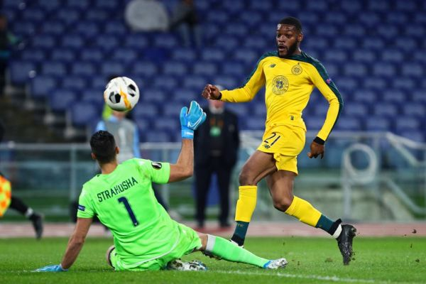 Oliver Ntcham of Celtic scores 1-2 goal during the UEFA Europa League, Group E football match between SS Lazio and Celtic FC on November 7, 2019 at Stadio Olimpico in Rome, Italy. PHOTO | AFP