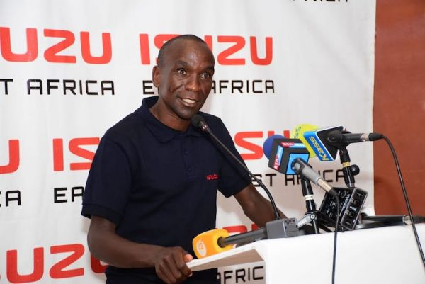 Olympic champion and world marathon record holder, Eliud Kipchoge, addresses the media at a breakfast reception hosted in his honour by Isuzu East Africa in Nairobi on May 8, 2019. PHOTO/Courtesy