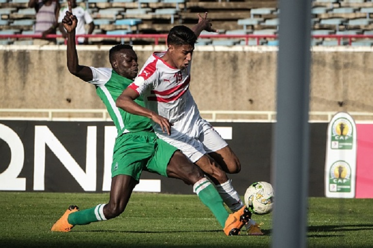 Philemon Otieno of Gor Mahia FC in past CAF action against Zamalek SC. PHOTO/GettyImages