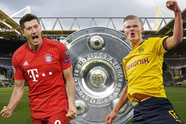 Preview Borussia Dortmund-FC Bayern Munich on May 26th, 2020. Clash of the goal-guaranteed Robert LEWANDOWSKI (FC Bayern Munich) and Erling HAALAND (Borussia Dortmund) at the top duel of the 28th matchday. PHOTO | AFP