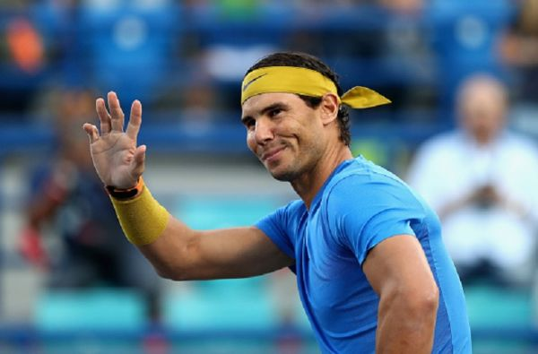 Rafa Nadal of Spain plays in Quarter-finals match against Wawrinka of switzerland in the Mutua Madrid Open at La Caja Magica in Madrid on 10th May, 2019. PHOTO/AFP