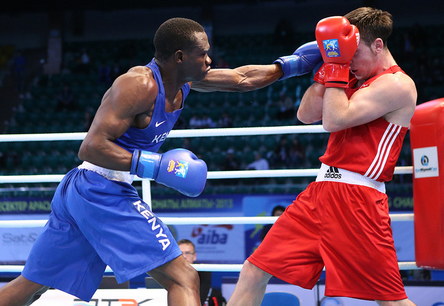 Rayton Okwiri in action in the  Rio 2016 Brazil Olympics. PHOTO/ COURTESY