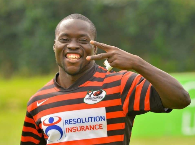 Resolution Impala Saracens RFC's Richard Sindindi Otieno. The former full-back passed away early on Monday morning, February 25, 2019  in Nairobi. PHOTO/RagaHouse
