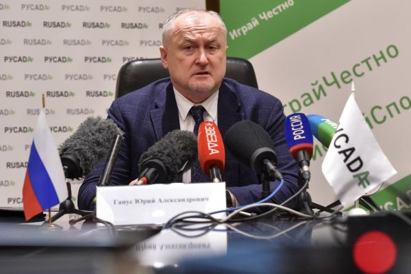 RUSADA (Russia's anti-doping agency) chief Yury Ganus gives a press conference in Moscow on January 22, 2019. Russia will not face new penalties for missing a December deadline to allow investigators access to the Moscow laboratory at the centre of alleged state-sponsored doping, the World Anti-Doping Agency said on January 22, 2019. PHOTO | AFP