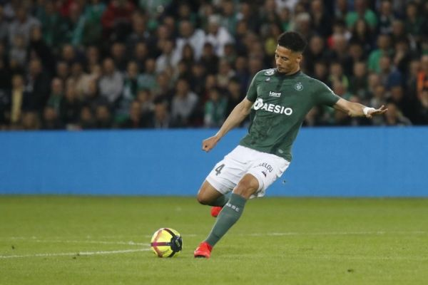 Saliba William of Saint Etienne during the French championship L1 football match between AS Saint Etienne and Montpellier HSC on May 10, 2019 at Geoffroy-Guichard stadium in Saint Etienne, France. PHOTO/AFP