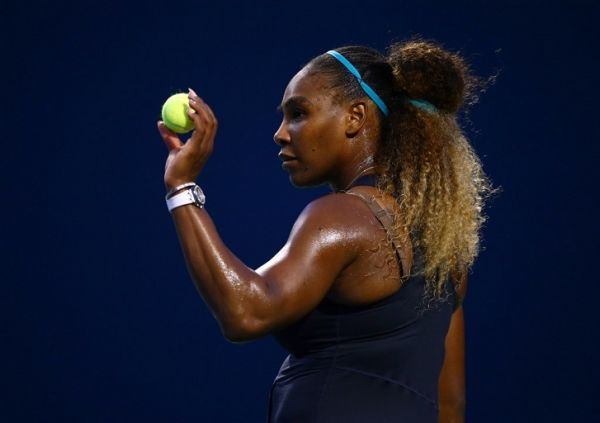 Serena Williams of the United States prepares to serve against Elise Mertens of Belgium during a second round match on Day 5 of the Rogers Cup at Aviva Centre on August 07, 2019 in Toronto, Canada. PHOTO | AFP