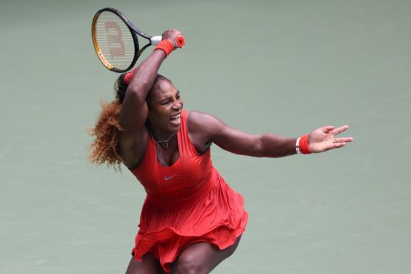 Serena Williams of the United States returns the ball during her Women's Singles quarterfinal match against Tsvetana Pironkova of Bulgaria on Day Ten of the 2020 US Open at the USTA Billie Jean King National Tennis Center on September 9, 2020 in the Queens borough of New York City. PHOTO | AFP