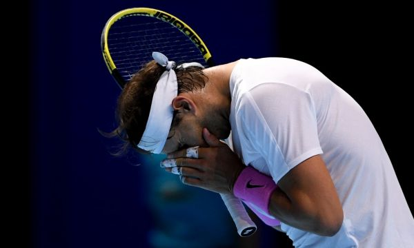 Spain's Rafael Nadal reacts during his group stage men's singles tennis match against Germany's Alexander Zverev at the ATP World Tour Finals tournament in London, Britain. PHOTO | AFP