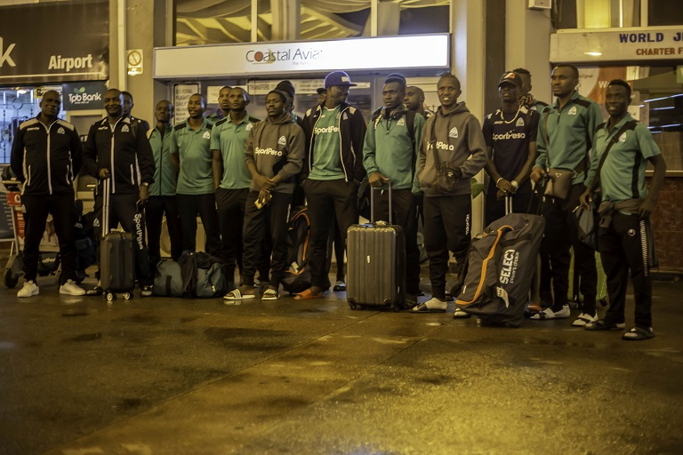 SportPesa Cup Champions arrive at the Julius Nyerere International Airport in Dar es Saalam, Tanzania on Tuesday, January 21, 2019. PHOTO/SPN