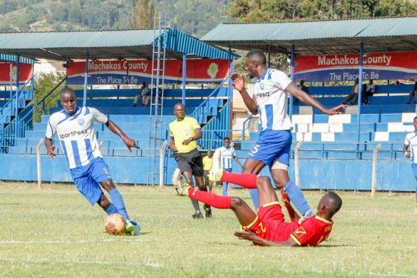 SportPesa Premier League action between Mt. Kenya United FC (in red) versus AFC Leopards SC at Kenyatta Stadium in Machakos on February 6, 2019. PHOTO/ MT. Kenya United FC