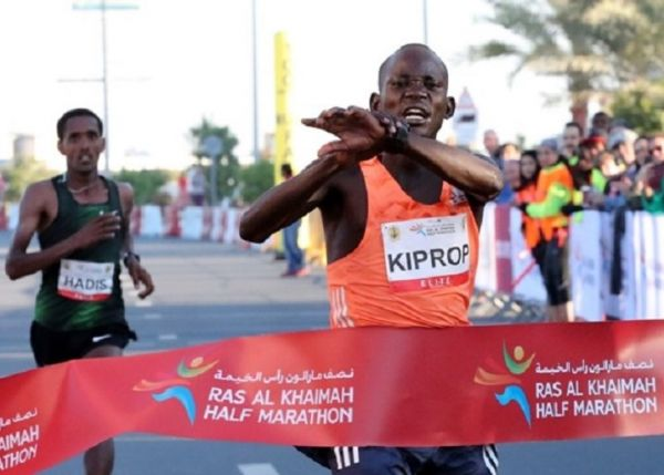 Stephen Kiprop wins the Ras Al Khaimah Half Marathon. PHOTO/ MYBESTRUNS.COM