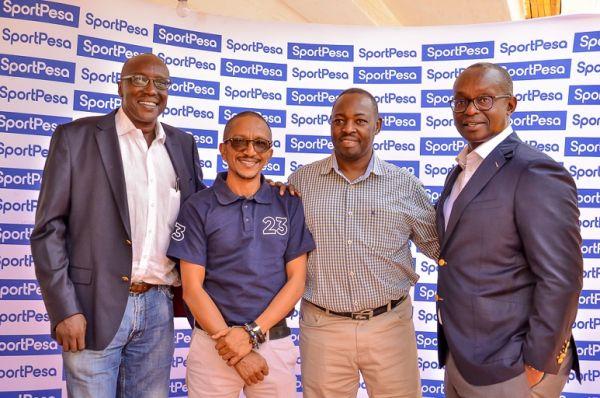 Team 23 members Brian Waruhiu (left), Raju Singh, Robert Kariuki and Team Principal Peter Kinyua (right) pose for a picture. PHOTO/SimonAnyiko/SPN