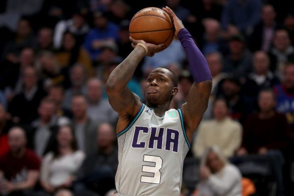 Terry Rozier #3 of the Charlotte Hornets puts up a shot against the Denver Nuggets in the second quarter at the Pepsi Center on January 15, 2020 in Denver, Colorado. PHOTO | AFP