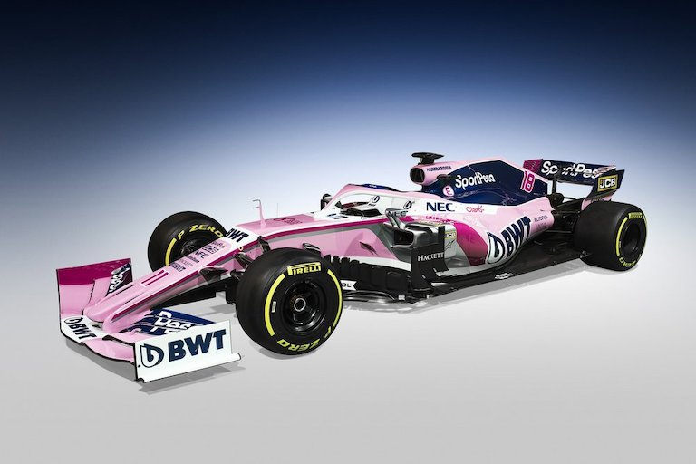The SportPesa Racing Point Team new Formula 1 car that was unveiled on Wednesday, February 13, 2019 in  Canada. PHOTO/SPN
