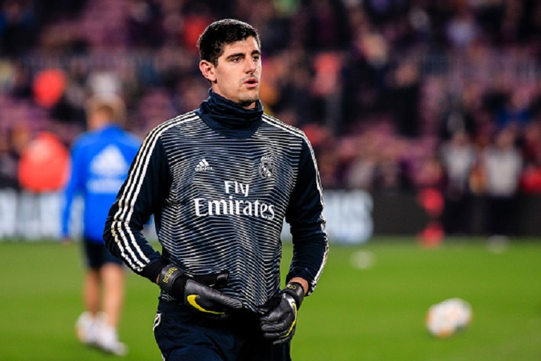 Thibaut Courtois of Real Madrid during the semi-final first leg of Spanish King Cup / Copa del Rey football match between FC Barcelona and Real Madrid on 6 February 2019 at Camp Nou stadium in Barcelona, Spain. PHOTO/GettyImages