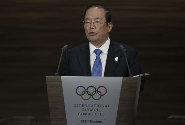 Toshiro Muto, the CEO of the 2020 Tokyo Olympics organising committee, delivers a speech during the 133rd IOC session in Buenos Aires, on October 08, 2018. PHOTO | AFP
