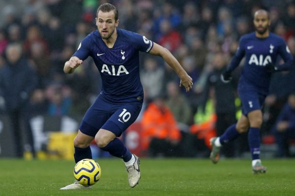 Tottenham Hotspur's English striker Harry Kane runs with the ball during the English Premier League football match between Southampton and Tottenham at St Mary's Stadium in Southampton, southern England on January 1, 2020. PHOTO | AFP
