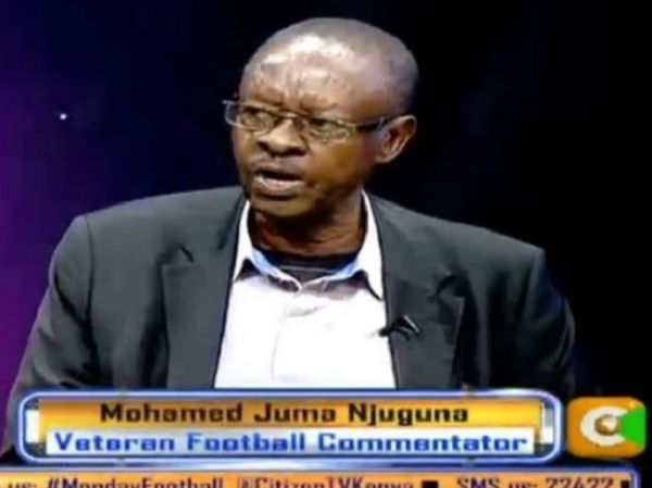 Veteran football commentator Mohamed Juma Njuguna in a past interview. PHOTO/ CITIZEN TV