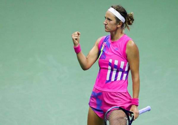 Victoria Azarenka of Belarus reacts in the third set during her Women's Singles semifinal match against Serena Williams of the United States on Day Eleven of the 2020 US Open at the USTA Billie Jean King National Tennis Center on September 10, 2020 in the Queens borough of New York City. PHOTO | AFP