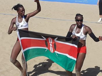 Beach Volleyball Duo Makokha,Too Hand Kenya Silver At Morocco Africa Games