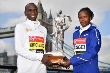 World Record Holders Kipchoge, Kosgei Set To Defend London Marathon Titles